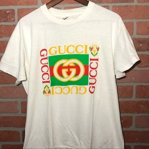 Vintage 90's Bootleg Gucci Single Stitched Tee
